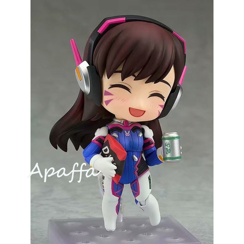 10cm Anime Game Figure Toys Overwatch D.Va 847 Hana Song Q Version PVC Action Figure Toys Collection Model Doll Gift 2