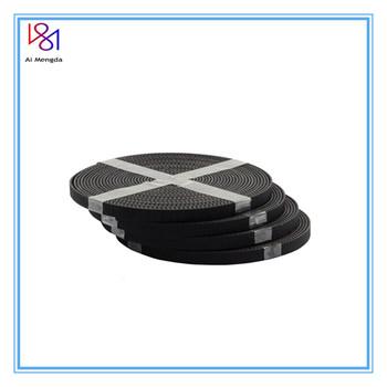 Wysokiej jakości 5 metrów partia GT2-6mm otwarty pasek rozrządu szerokość 6mm GT2 pas gumy włókna szklanego cięcia na długość do drukarki 3D hurtownie tanie i dobre opinie Ai Mengda 5M BELT black