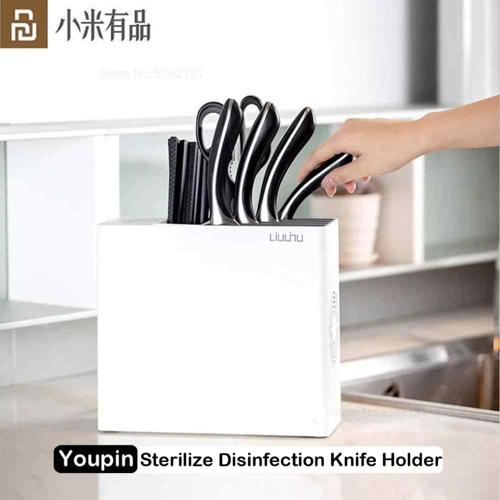 On Sale Xiaomi Sterilization Knife And Chopstick Holder UV Sterilization Drying Storage Kitchen Block Tools Knives Stander