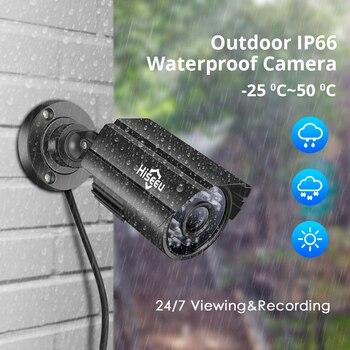 Hiseeu 8CH 5.0MP Sicherheit Kamera System Set 4 Stücke 720P 1080P 1920P AHD Wasserdichte Straße Kamera Im Freien Video Überwachung Kit