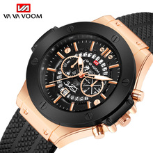 2019 Unique Style Quartz Watches For Men Waterproof Hollow Calendar Silicone Strap Big Dial Watch Men Sport Military Male Clock paidu special turntable dial sport watches for men leather modern trendy casual unique student quartz watch fashion male clock