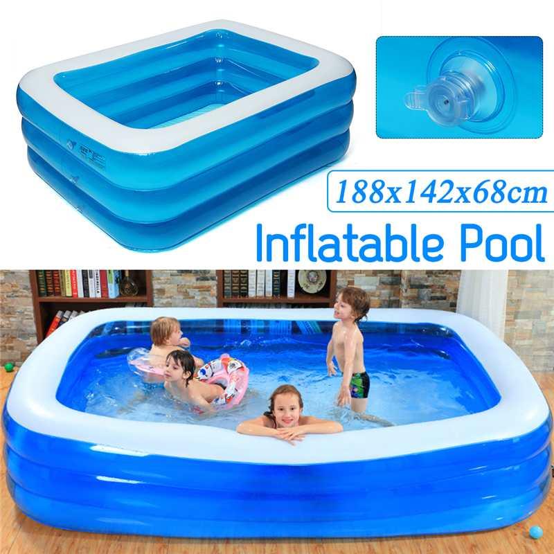Piscine gonflable pour bébés   Piscine de plein air, bassin de jeux d'eau, pour enfants, 188x142x68cm