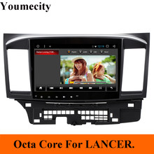 Youmecity 2GRAM Android 9,0 2DIN coche DVD GPS para MITSUBISHI LANCER 2008-2016 Unidad de reproductor de video wifi Radio video estéreo RDS(China)