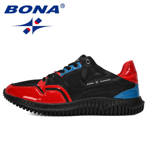 Image 4 - BONA 2019 New Designers Mens Shoes Comfortable Outdoor Casual Mens Shoes Lace Up Cushion Sneakers Male Leisure Footwear Trendy