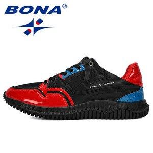 Image 4 - BONA 2019 새로운 디자이너 남자 신발 편안한 야외 캐주얼 남자 신발 레이스 업 쿠션 스 니 커 즈 남성 레저 신발 유행