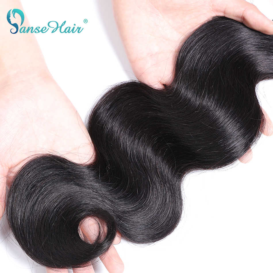 Panse Hair Peruvian Body Wave Hair Human Hair Extensions Customized 8-30 Inches  Color 1B 1Pcs Per Lot Non-remy