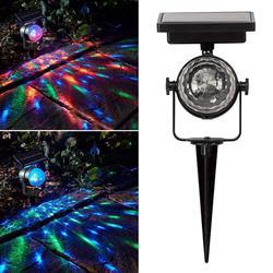 3 pièces LED perles lampes solaires solaire alimenté lampe de Projection pelouse jardin carnaval projecteur LED couleur LED lumière