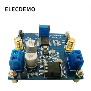 Image 1 - INA114 module instrumentation amplifier 1000 times gain adjustable single power supply single ended / differential input