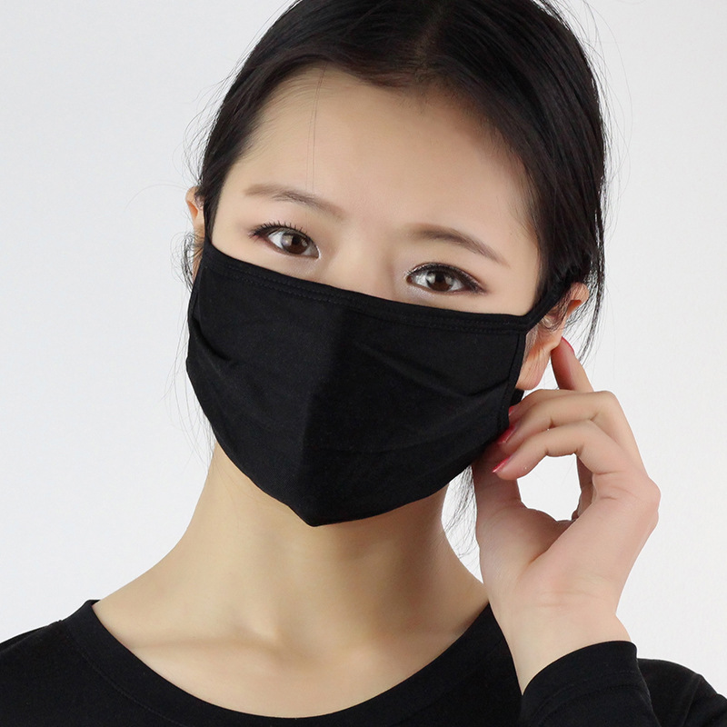 Solid Color Silk Sunscreen Mouth Mask UV Protection Breathable Summer Thin Face Masks Women Cycling Anti-dust Windproof Masks