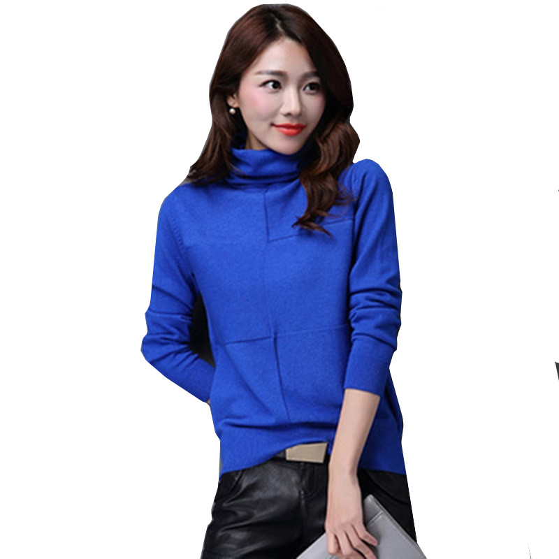 Turtleneck Sweater Jersey Jumper Pullover Female Tricot Knitted Women Autumn Winter And