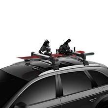 Универсальный кровельный стеллаж для лыж и сноубордов mosatp
