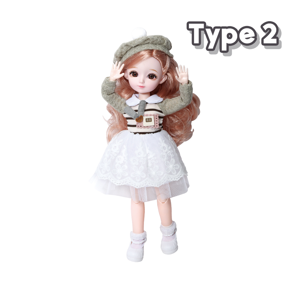 New 1/6 12 Inch 31cm Bjd Doll 23 Joints Long Wig Plastic Toys Musical Doll Girls Children's Favorite Fashion Birthday Presents 8