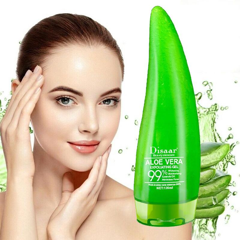 120ml 99% Aloe Soothing Gel Aloe Vera Gel Skin Care Remove Acne Moisturizing Day Cream After Sun Lotions Shrink Pores Aloe Gel