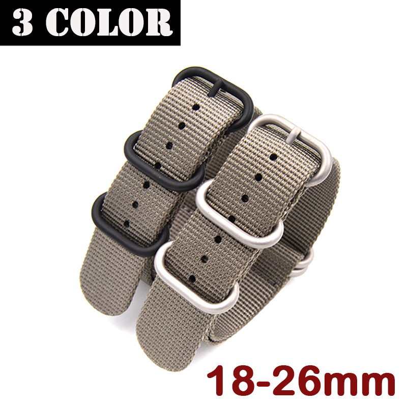 New Woven Nylon Canvas Strap 18MM 19MM 20MM 21MM 22MM 23MM 24MM 26MM Black Green For NATO Sports