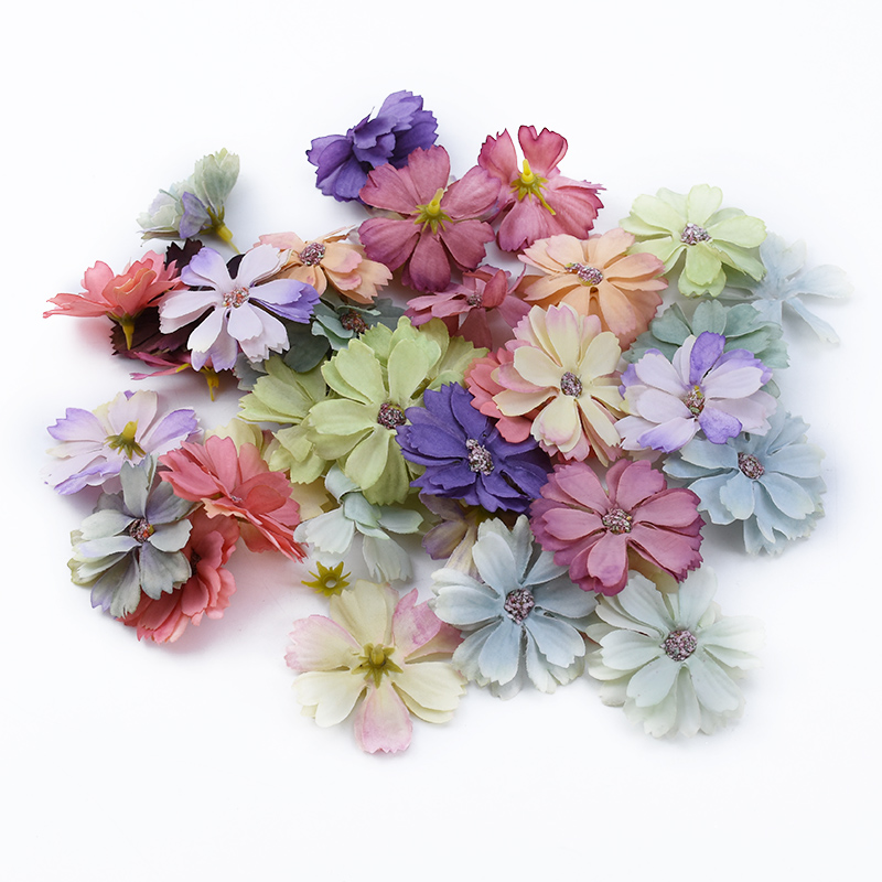 10/30pcs Silk Gerbera Multicolor Wedding Decorative Flowers Wreaths Home Decor Fake Flowers Diy Gifts Box Artificial Flowers