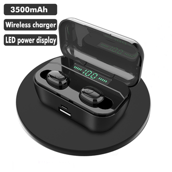 New Bluetooth Earphone 8D Stereo Sport Wireless Earbuds headset Mini TWS Earphones Waterproof Headphone with 3500mAh Power Bank