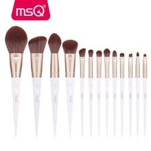 цена на MSQ 13PCS Makeup Brushes Set Powder Foundation Eye Shadow Lip Make Up Brush Kits Gold/White PVC Resin Handle Beauty Tools