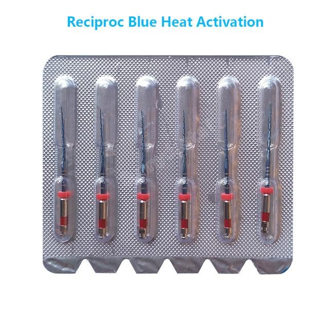 שיניים הדדיות כחול קבצי R25 25mm הדדיות NITI קבצי שיניים רק אחד קבצי R50 שורש רפואת שיניים אנדו מכשיר