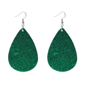 Christmas Earrings Drop-Shaped Christmas Leather Earrings Fashion Leather Earrings Women'S Earrings Square Fabric Earrings фото