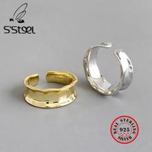 S'STEEL Irregular Gold Ring 925 Sterling Silver Rings For Women Bague Femme Argent Pierscionki Srebrne Joyas De Plata 925 Mujer