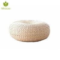 Meditation Cushion Floor Cushion Home Decor Natural Straw Round Thicken Tatami Cushion Yoga Round Mat Window Pad Chair Cushion