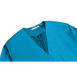 Image 5 - [EAM] المرأة حزام مطوي مزاجه فستان طويل جديد الخامس الرقبة طويلة الأكمام فضفاضة تناسب المد الموضة كل مباراة ربيع الخريف 2020 1B136