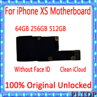 Original Motherboard Unlocked for iPhone XS With/Without face ID Mainboard iOS Installed Logic Board iCloud NO locked 64GB 256GB