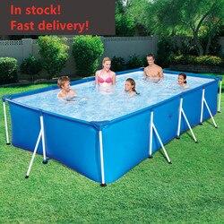 Offre spéciale grand support piscine extérieure enfants maison pataugeoire carré piscine enfants pliable adulte étang