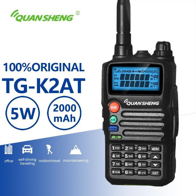 Quansheng TG-K2AT(UV) Walkie Talkie Long Range High Quality Two Way Radio Free Telsiz Car Charger CB Radio Comunicador Woki Toki