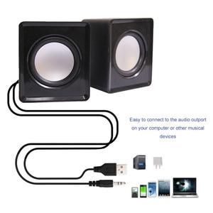 Image 4 - Kebidu Taşınabilir USB 2.0 Multimedya Masaüstü Bilgisayar Dizüstü Mini Taşınabilir Hoparlör Müzik Stereo Ev Sineması Parti Hoparlör 3.5mm