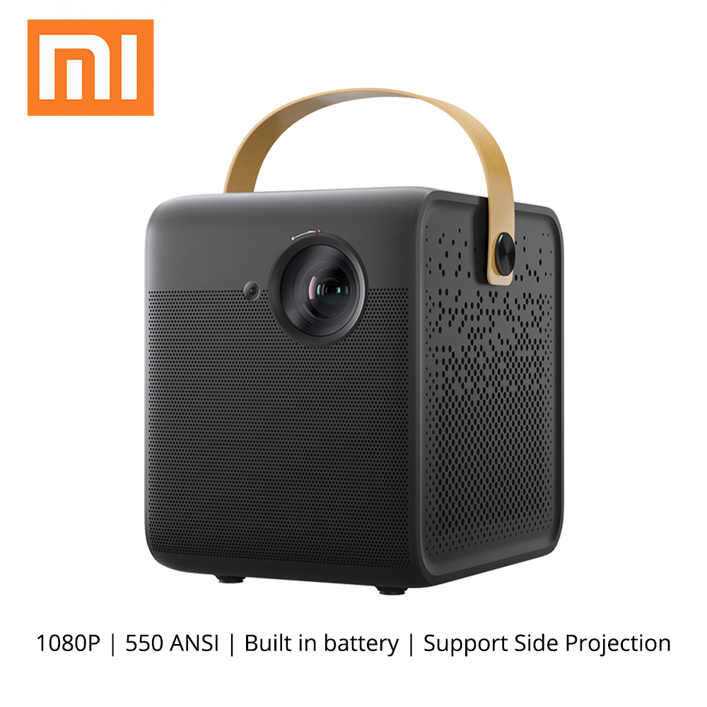 Xiaomi Fengmi Smart 1080P Projector DLP 550ANSI Lumens 2GB+16GB Android Wifi Battery Support 4K Projector Home Theater Beamer