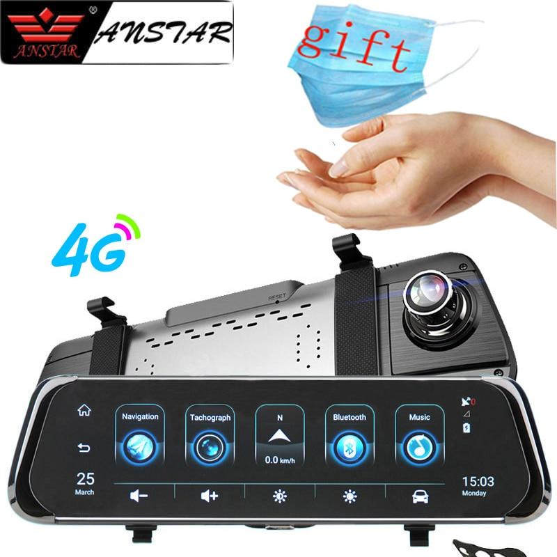 Зеркало-видеорегистратор Anstar, 10 дюймов, 4G, Android 5,1, Wi-Fi, ADAS, GPS, HD 1080P