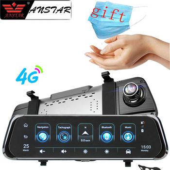 цена на Anstar 10'' 4G Car RearView Mirror DVR Android 5.1 WiFi ADAS GPS  HD 1080P Video Recorder Dash Cam Auto Registrar Car Camera