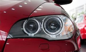 Image 3 - سيارة عدسة المصباح الأمامي لسيارات BMW X5 E70 2008 2009 2010 2011 2012 2013 سيارة العلوي كشافات عدسة السيارات قذيفة غطاء