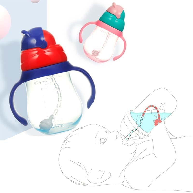 Baby Nursing Feeding Plastic Glass Bottle Feeder Accessories Straw With Brush