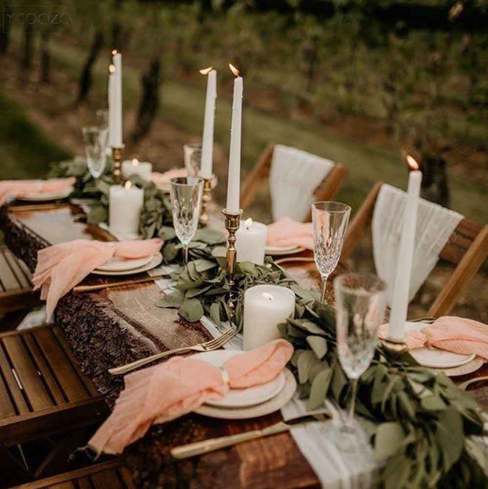 Dinner table decoration reusable cotton gauze table napkins wedding napkins cotton