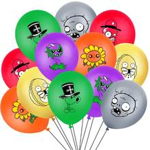 12 pçs plantas vs zumbis látex balões col-festa suprimentos decoração feliz aniversário vídeo game tema 12 polegada ballons brinquedos