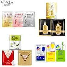 BIOAQUA 24K gold face masks snail hyaluronic acid Moisturizing Anti-Aging facial mask v shape Hang ear type skin care