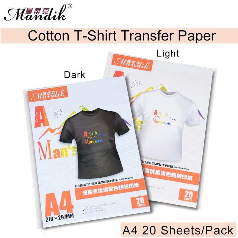 Premium Ljus / mörk tvättbart värmeöverföringspapper för Epson-skrivare