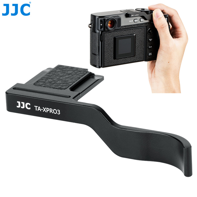 JJC Deluxe Metal Thumbs Up Grip For Fujifilm X Pro3 XPro3 X Pro2 XPro2 X Pro1 Camera Hot Shoe Hand Grip Camera Accessories