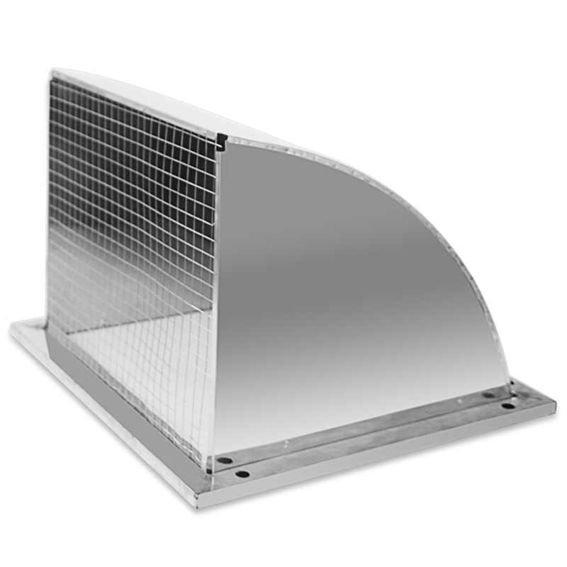 Top Sale 304 Stainless Steel Outer Wall Rain Cover ...