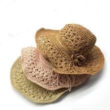 Ручной работы для девочек соломенная шляпа Цветочная повязка