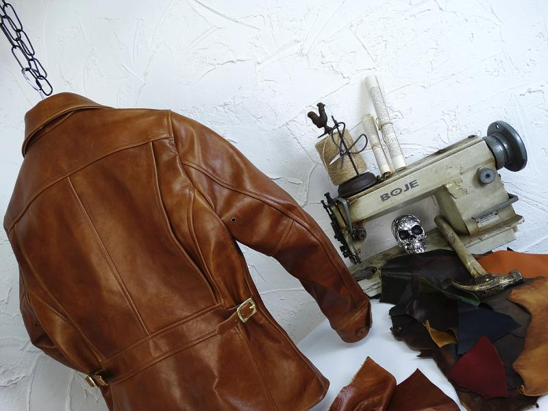 H2e73fb6495aa4a02bad6382adc06689aY YR!Free shipping.Italy Oil Wax Cowhide coat.Helix Rider genuine leather jacket,winter men vintage brown leather jacket.sales