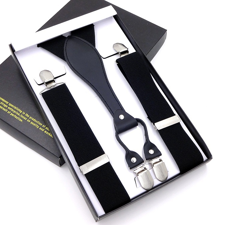 4 Clip Men's Suspenders Men Braces Supports Tirantes For Women Elastic Adjustable Pants Straps Clothing  Braces Suspender