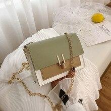 Мини кожаные сумки через плечо для женщин зеленая цепочка сумка через плечо женские сумки для путешествий и сумки Сумка через плечо