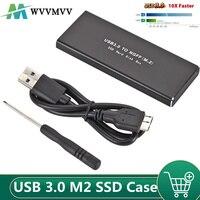 Wvmvv USB 3.0 M2 obudowa na SSD USB3.0 do M.2 NGFF zewnętrzna obudowa dysku SSD wsparcie skrzynki 2230 2242 2260 2280 dysk twardy