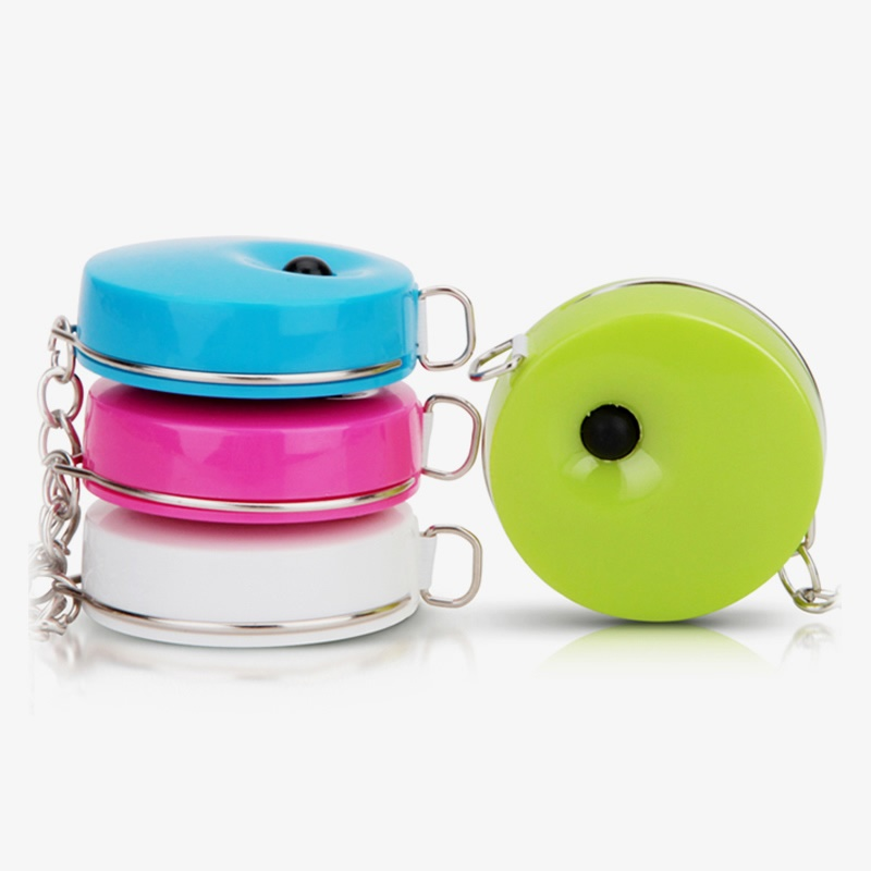 Mini Tape Measure 1.5cm*7.5mm 60inch Color Body Portable Size Folding Ruler For Measuring Cloth Office School Household 6737