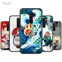 Princess Mononoke Anime Case for Xiaomi Redmi Note 8T 8 8A K20 7 7A 7S 6 6A Pro Black Silicone Phone Cover Soft TPU Funda Capa princess mononoke anime case for xiaomi redmi note 8t 8 8a k20 7 7a 7s 6 6a pro black silicone phone cover soft tpu funda capa