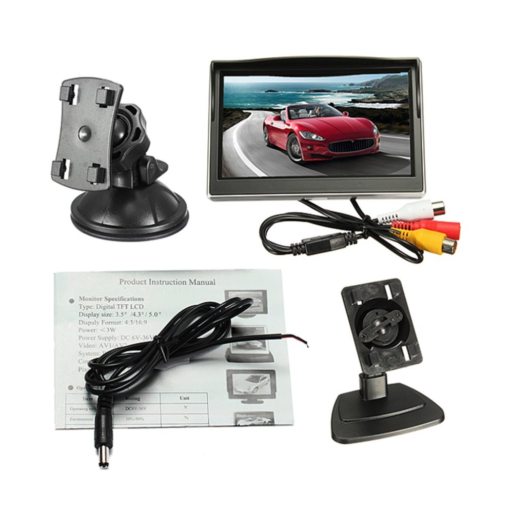 Monitor Display Universal Lcd-Screen Digital Car-Rear-View TFT HD with Mounting-Bracket