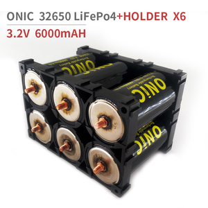 ONIC 6pcs 32650 LiFePO4 3.2v 6000mAH 33A 55A Rechargeable Battery Cell LiFePO4 5C Discharge Batteries with 2pcs 2x3 Holder